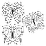 Color me! Butterflies 6 Designer Cut-Outs