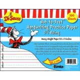 Cat in the Hat Hat to Feet Handwriting Practice Paper - 100 sheets