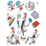 Cat in the Hat Characters 12x17 Window Clings