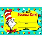 Dr. Seuss Cat in the Hat Reward Punch Card