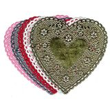 Heart Doilies - 100 per Pack, 4 Red