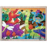 Prehistoric Sunset 24 Piece Wooden Jigsaw Puzzle