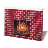 Corrugated Fireplace Decoration