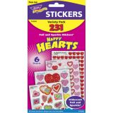 Happy Hearts Mixed Stickers Variety Pack