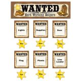 Wanted Western Helpers Mini Bulletin Board Set