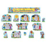 Children's Ten Commandments Bulletin Board Set
