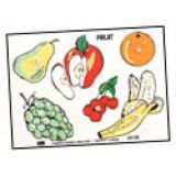 CYBER SPECIAL Fruit Puzzle without/Knobs ~ 9 inches x 12 inches ~ 6 Pieces
