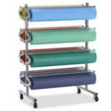 Horizontal Rack for 36 x 1000' Art Rolls ~ Holds 8 Rolls