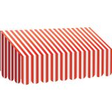 Red & White Stripes Awning