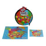 Geo Puzzle Pouch U.S. and Canada