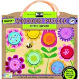 Green Start Chunky Wooden Puzzle: Circle Garden