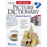 Math Content Picture Dictionary, English/Spanish