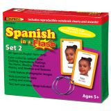 Spanish in a Flash Learning System: Set 2 Color Coded Flash Cards
