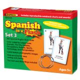 Spanish in a Flash Learning System: Set 3 Color Coded Flash Cards