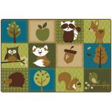 Nature's Friends Toddler Rug, 6' x 9' Rectangle