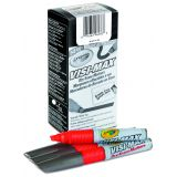 Crayola® Chisel Tip Visi-Max™ Dry Erase Markers, Red, Box of 12