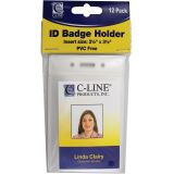 C-Line® Poly ID Badge Holders, Vertical