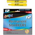 Liqui-Mark® Permanent Markers, Yellow, Dozen