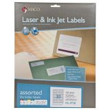 Maco® Labels, 2/3 x 3 7/16, Assorted, Box of 750