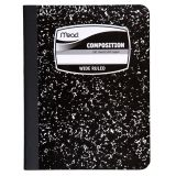 Mead® Square Deal® Marble Composition Book, Black