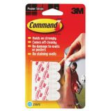 Command™ Adhesive Reusable Hooks, Poster Strips, Pack of 8