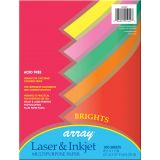 Pacon® Multipurpose Paper, Bright Colors, 20 lb., 100 Sheets