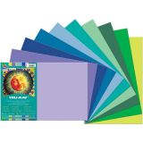 Tru-Ray® Fade-Resistant Construction Paper, 12 x 18, Cool Assorted