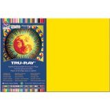 Tru-Ray® Fade-Resistant Construction Paper, 12 x 18, Yellow