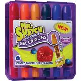 Mr. Sketch® Scented Twistable Gel Crayons, Set of 6