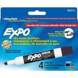 Expo® Low Odor Dry Erase Markers, Chisel Tip, 4-color Set