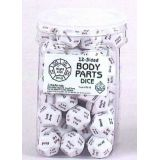 Body part dice 12 sided