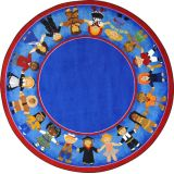 Children of Many Cultures - Round (7'7 Diameter)