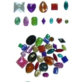 Acrylic Gemstones (250 gm)