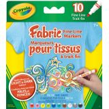 Crayola® 10 Fabric Markers - Fine Line
