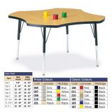 Berries Adjustable Activity Table -  Four-Leaf (48) - Legs 11-15 (Toddler) - Yellow/Black