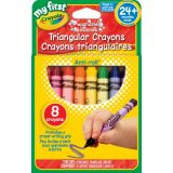 8 Washable Triangular Crayons