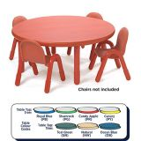 Baseline® Round Table Large - 16 height (48 diameter), Candy Apple