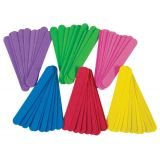 Foam Jumbo Craft Sticks 100/Pk Asst Colo