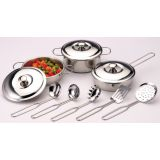 11-Piece Steel Cookware Set
