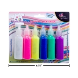 Fabric Paint Glitter Colours (6/pk)