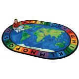 Circle Time Around the World - Oval (6'9x9'5)