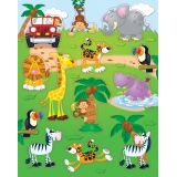 Jungle Safari Shape Stickers