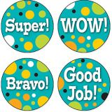 Teal Appeal Motivator Stickers 120/pk