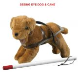 Special Needs Doll Accessories - Seeing Eye Dog and Cane