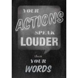 Your Actions Speak Louder - Inspire U Poster