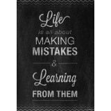 Mistakes - Inspire U Poster