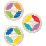 Upcycle Style Rustic Medallions 3 Designer Cut-Outs (36/pk)