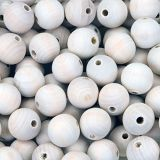 Natural Wood Beads 24mm 100/bag