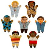 3 Generation Family Set Of 7 Puppets