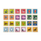 Animal Memory Game - 24 Wooden Tiles